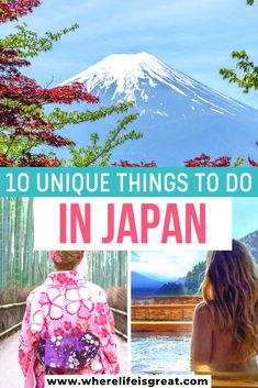 10 Most Unique Things to do in Japan - Arzo Travels - 10 Most Unique Things to do in Japan Planning a trip to Japan? Here are the 10 most unforgettable and unique experiences not to miss in Japan. My ultimate Japan bucket list Japan Travel Guide, Asia Travel, Travel Guides, Travel Vlog, Budget Travel, Cool Places To Visit, Places To Travel, Travel Destinations, Stuff To Do