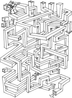 Mazes For Kids, Activities For Kids, Maze Drawing, First Grade Math Worksheets, Printable Mazes, Phonics Rules, Maze Game, Summer Books, Hidden Pictures