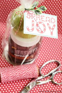 Last Minute Chocolate Dip Gift! - Tried & True Creative - - Super easy last minute chocolate dip gift to give during the holidays! Includes free printable gift tag to make things even easier! Easy Diy Christmas Gifts, Last Minute Christmas Gifts, Christmas Craft Projects, Easy Gifts, All Things Christmas, Homemade Gifts, Christmas Crafts, Christmas Time, Holiday Time