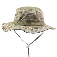 Connectyle Outdoor Cool Mesh Military Bucket Sun Hats Cam... https    19223b695ed6