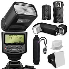 New Altura Photo Digital Flash Kit For Nikon Dslr D71000 D5300 D5200