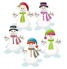 cute snowflake clipart | Snowman Catching Snowflakes Clip Art ...