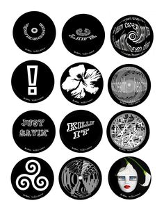 Here are some of the black and white 2.5 inch pendants available from artist, designer Susan Williams.  Custom designs available by request! www.artjewelerysusanwilliams.com