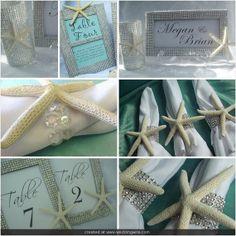 Starfish Decorating Accessories Beach Wedding by BringOutTheBling