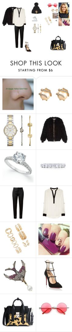"""""""Day 15, Sally going to the set of Momma in NYC."""" by princesscece6 ❤ liked on Polyvore featuring Lulu Frost, FOSSIL, Pologeorgis, Tiffany & Co., Alexander Wang, Karl Lagerfeld, Forever 21, Mura, Lancôme and Sylva & Cie"""