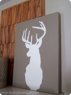 wow! I love. Especially since I want let Dave put a real deer head in the house...this is the perfect compromise, and fits my modern/rustic style.