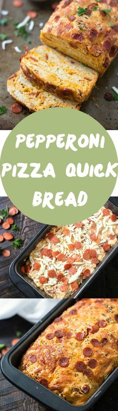 Pepperoni Pizza Quick Bread Recipe - An American favorite stuffed into moist, tender, and flavorful pepperoni pizza quick bread! Ready in no time. Grab the marinara sauce! Move on over pepperoni rolls!