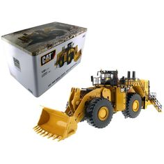 CAT Caterpillar 994K Wheel Loader with Rock Bucket and Operator High Line Series 1-50 Diecast Model by Diecast Masters