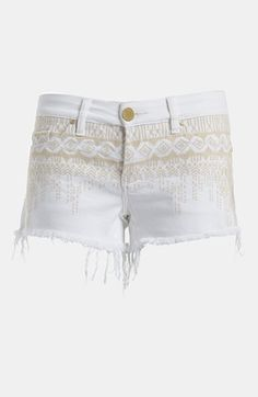 BLANKNYC 'The Little Queenie' Embroidered Cutoff Shorts | Nordstrom