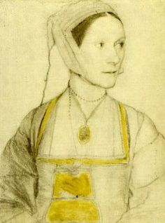 Cecily Moor,, drawing by Hans Holbein the Younger 1526/7, in which she is pregnant.. Cecily More was the daughter of Sir Thomas More and Jane Colte She is best known for having been given an unusually fine education and for her presence in various More family portraits. In 1525, Cecily married Giles Heron who, like her father, was executed for treason, and they had three children: Thomas, John, and Alice.