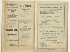 1948 Grays Ath v Hounslow Town Res non League Football Programme London Corinthi Football Program, Programming, London, Ebay, Computer Programming, London England, Coding