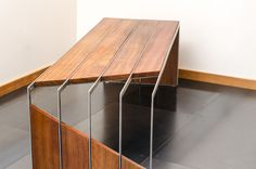 Super Ideas For Stainless Steel Furniture Design Ideas Stainless Steel Furniture, Metal Furniture, Industrial Furniture, Cool Furniture, Furniture Design, Furniture Online, Furniture Companies, Furniture Plans, Wood Steel