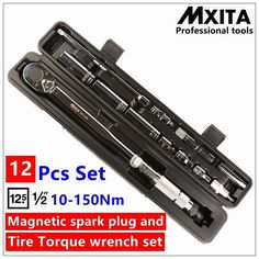 1/4inch 1-25NM Click Adjustable Torque Wrench Bicycle Repair Tools Kit