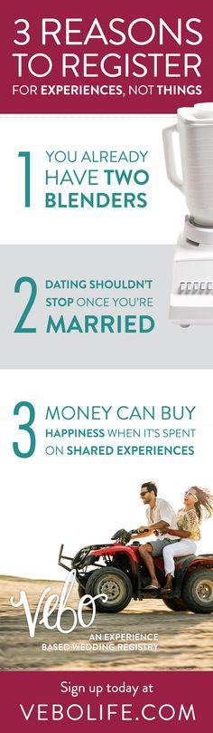 VEBO is an experience-based wedding registry based in Colorado.  www.vebolife.com