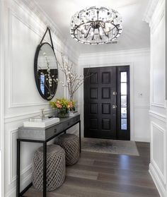 Photo shared by Home Decor/Interior Design on February 2019 tagging Home Living Room, Living Room Designs, Modern Living Room Decor, Dark Floor Living Room, Living Room Ideas, Hallway Decorating, Interior Decorating, Model Home Decorating, Home Design Decor