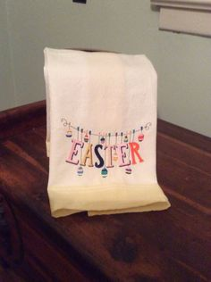A personal favorite from my Etsy shop https://www.etsy.com/listing/464038927/easter-embroidered-tea-towel-dish-towel