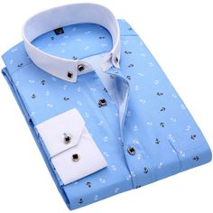 3372f3e42b75 BOZE Nuevos Hombres Camisas Casuales de La Moda de Manga Larga Marca  Impreso Button-Up