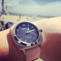 #mybriston #summeriscoming #watch #briston #clubmaster #sport #steel #grey dial #pink #natostrap #bristonwatches