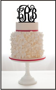 Wedding Cake Topper Monogram initials For Wedding or by Mclaserpro, $25.00