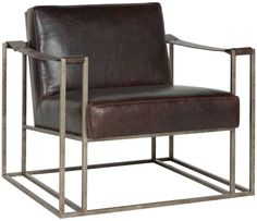Bernhardt | Dekker Chair (3212L)LEATHER OPTION I think just brown option not sure.  Hands are leather straps and metal frame.  Masculine plus modern twist