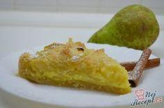 Francouzský hruškový koláč s krémem ze zakysané smetany. Je lahodný a velmi chutný, takže vřele doporučuji. Autor: Lacusin