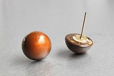 ' nuts ' - studs made from buttons