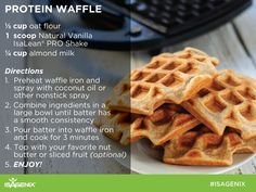 Break out the waffle iron and try our Protein Waffle recipe!
