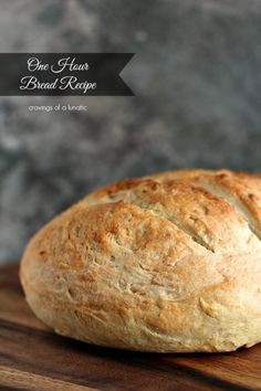 (Canada) One Hour Bread Recipe | Cravings of a Lunatic | Crusty on the outside and soft on the inside. It will become a family favourite!