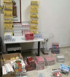 Napoli sequestrati oltre 71 kg di tabacchi lavorati esteri di contrabbando nascosti in una botola