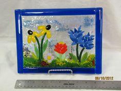 Fused Glass Texas Wildflowers