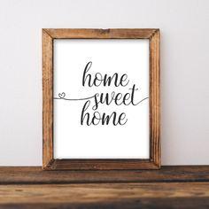 Home Sweet Home - Printable home decor, printable wall art