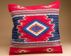 """Mission Del Rey Southwest - Southwestern Wool Pillow Cover 20""""x20"""" (pc27), $59.95 (http://www.missiondelrey.com/southwestern-wool-pillow-cover-20x20-pc27/)"""