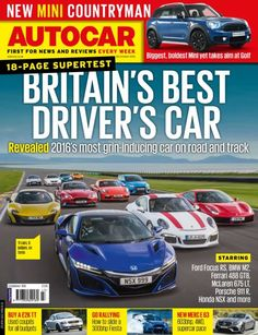 In this Issue:    18 Page supertest! Britain's best driver's car - revelead: 2016's most grin-inducing car on road and track    STARRING:  <ul>   <li>Ford Focus RS</li>   <li>Mclaren 675LT</li>   <li>Ferrari 488 GTB</li>   <li>Aston Vantage GT8</li>   <li>BMW M2</li>   <li>Porche 911 R</li>   <li>Honda NSX and more!</li>  </ul>  NEW Mini Countryman - Biggest, boldest and most practical mini yet    Buy a £2k TT - used coupés for all budgets    Go rallying - how to slide a 300bhp fiesta