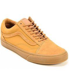 987c1f3224 Vans Old Skool Brown Skate Shoes