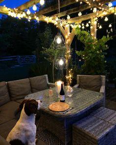 Outdoor Battery Lights, Outdoor Candles, Outdoor Rooms, Outdoor Gardens, Outdoor Decor, Gazebo Lighting, Lighting Ideas, Wooden Crate Furniture, Tent Fabric