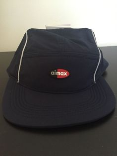 73c7540caf8 SUPREME NYC Nike Air Max 98 Running Hat Cap 5panel Navy NikeLab Accessory  NEW  Supreme