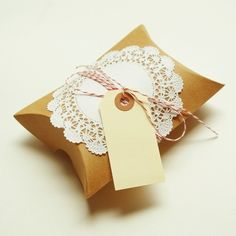doily, bakers twine, tag - perfect gift