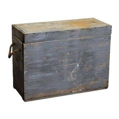 Blue Wood Trunk With Rope Handles ($225) ❤ liked on Polyvore featuring home, home decor, small item storage, trunks & blanket chests, wooden home accessories, blue home accessories, wooden blanket chest, wood home decor and wood blanket chest