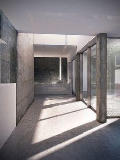 Industrial interior by Sebastian Kochel, via Behance
