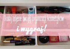 Pokaż nam swoją organizację kosmetyków i wygraj!. Pokaż nam swoją organizację kosmetyków. Zdjęcie, które zdobędzie najwięcej głosów, wygrywa. <br />Nagroda dla zwycięzcy to książka Ewy z kanału Red Lipstick Monster!