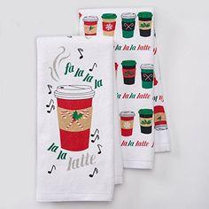 Fa La La La La La Latte Kitchen Towel Set 2 Piece 165 x 26 >>> To view further for this item, visit the image link.