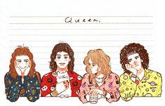 John Deacon, Queen Drawing, Drawing S, Brian May, Freddie Mercury, Queen Meme, Roger Taylor, Ben Hardy, Queen Art