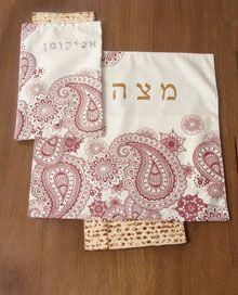 Love these Paisley Matzah Covers and Afikoman bags-- makes a great hostest gift for Passover
