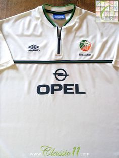 Relive Republic of Ireland s 1999 2000 international season with this  vintage Umbro away football shirt ece4dc948