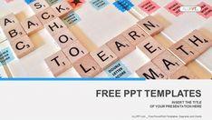Alphabet letters on wooden scrabble pieces PowerPoint Templates (1)