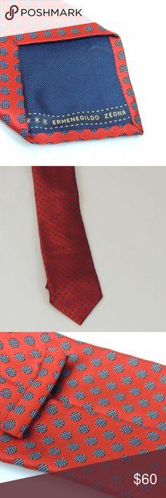 Ermenegildo Zegna Tie -Slim Beautiful holiday looking tie.  Thick Silk tie for that the dimensional knot Ermenegildo Zegna Accessories Ties