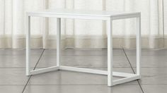 Finn White Top Desk with Salt Base | Crate and Barrel