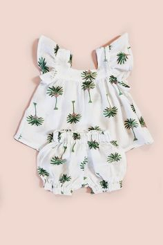 4f31d6090972 Baby Girls Romper - Olive Leaf · Baby DustTwo Piece SetsTwo PiecesBaby Girl  ...