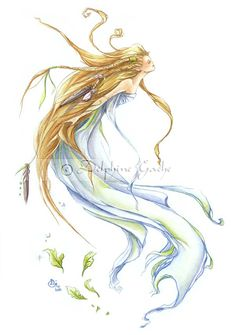 The sylph, spirit of the air by ~delfee on deviantART