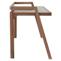 Buy John Lewis Gazelle Desk, Walnut from our Office Desks range at John Lewis. Contemporary Office Desk, Contemporary Furniture, Woodworking Bed, Cool Woodworking Projects, Retro Furniture, Furniture Design, Office Furniture, Plywood Desk, Retro Desk